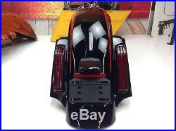 09-18 OEM Genuine Harley 2017 CVO Street Glide Rear Fender Tail Lights Signals