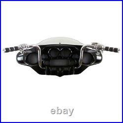 1 1/4 Chrome 14 Ape Hanger Bar Kit 2008-2013 Harley Electra Street Glide NoABS
