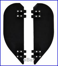 2 Black Billet Floorboards Foot Pegs Halfmoon Harley Flt Flst Road Street Glide