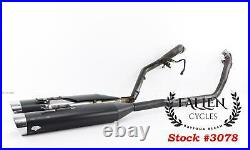 2007 Harley Street Glide Touring VANCE & HINES OVAL TRUE DUALS Exhaust Pipes Set