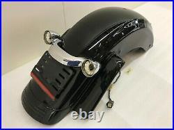 2009-2018 OEM Harley-Davidson Street Glide Touring Rear Fender Vivid Black