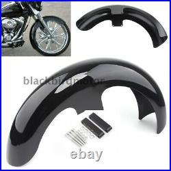 21Wick Vivid Black Front Fender für Harley Touring Electra Street Glide Bagger