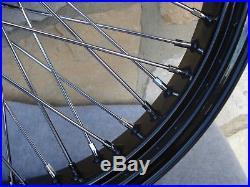 21x3.5 60 Spoke Black Front Wheel Harley Road King Street Glide Touring 00-07