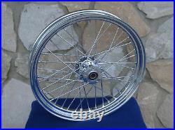23 X 3 40 Spoke Chrome Front Wheel Harley Road King Street Glide Touring 00-07