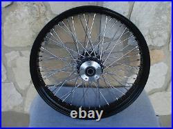23 X3.5 60 Spoke Black Front Wheel 00-07 Harley Road King Street Glide Touring