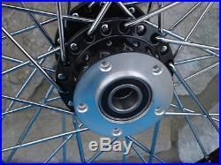 23x3 40 Spoke Black Front Wheel Harley Road King Street Glide Touring 00-07