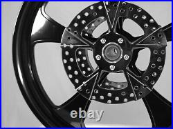23x3.75 & 18x5.50 HARLEY STREET GLIDE BLACK ROCK STAR WHEEL ABS & FRONT ROTORS