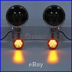 4.5 Auxiliary Fog Light Bracket Turn Signal For Harley Electra Street Glide USA