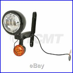 4.5 Auxiliary Fog Light Bracket With Turn Signal For Harley Electra Street Glide