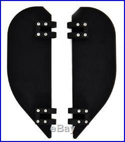 4 Black Billet Floorboards Foot Pegs Halfmoon Set Harley Street Glide Road