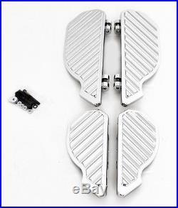 4 Chrome Billet Harley Road Glide Street Floorboards Foot Pegs