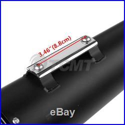 4 Megaphone Dual Exhaust Mufflers Slip-On For Harley Road Street Glide Ultra