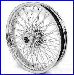 80 Spoke 21 Chrome Front Wheel 00-07 Harley Electra Glide Road King Street
