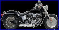 Bassani Chrome 2-2 Pro Street Exhaust for 86-17 Harley Softail FXST FXS FLSTN