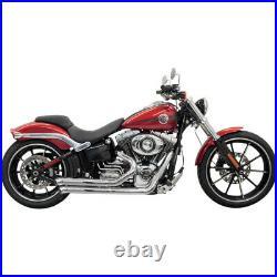 Bassani Chrome Pro Street Turn Out Exhaust Harley Softail Breakout Rocker