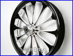 Black Contrast 21X3.5 Billet USA Wheel Harley 2013 & below Street Glide