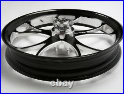 Black Contrast 21X3.5 Billet USA Wheel Harley-Davidson 2014-19 Street Glide