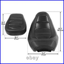 Black Driver Seat Passenger Pillion For Harley Touring Street Glide 2009-2020 19