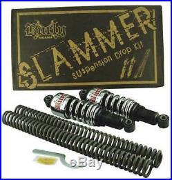 Burly Slammer Shocks + Fork Springs Kit 2006-2017 Harley Dyna Street Bob FXD