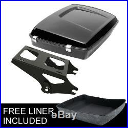 Chopped Tour Pak Pack & Mounting Rack For Harley Touring Street Road Glide 14-Up