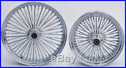 Chrome Fat Spoke 23 & 16 Front/rear Wheel Set Harley Electra Road King Street