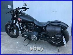 DYNAMITE BLACK Seitenkoffer Harley Davidson Street bob bis 2017 Dyna HD schwarz