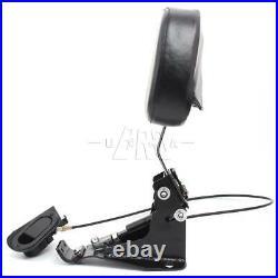 Driver Backrest +Adjustable Chrome Arm Mounting Kit For Harley Road Street Glide