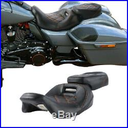 Driver Passenger Seat For Harley CVO Road King Street Glide Special 2009-2020 19