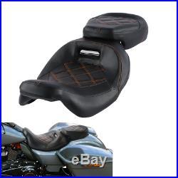 Driver Passenger Seat For Harley CVO Street Glide 2010-2012 Road Glide 2015-2020