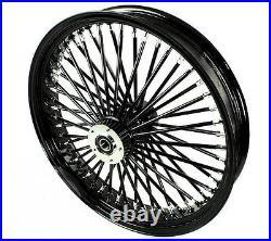 Fat Spoke 21 Black Front Wheel 08-13 Harley Road King Electra Glide Street