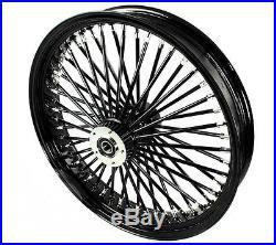 Fat Spoke 21 Black Front Wheel 2008-2015 Harley Electra Glide Road King Street