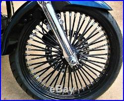 Fat Spoke 21 Front Wheel Black 2008-2015 Harley Electra Glide Road King Street