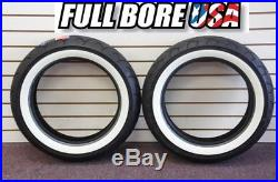 Full Bore White Wall Front/rear Tire Set Harley Electra Glide Road King Street