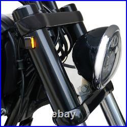 Gabel Cover Hülsen mit LED Blinker für Harley Davidson Dyna Street Bob