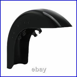 Gloss Black Front Fender Fit For Harley Street Glide 2014-2021 Road Glide 15-21