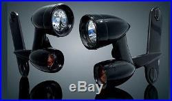 Gloss Black Kuryakyn Driving Lights Harley Touring Street Glide FLHT FLHR 5029