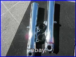 HARLEY POLISHED FRONT FORKS ROAD GLIDE Street Glide Road King 2000-2013