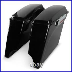 Hard Stretched side bags f. Harley Davidson Electra/Road/King/Street Glide/94-13