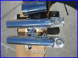 Harley 2014-2018 Street Glide FLHXS Fork Sliders Lower Legs & COWBELLS POLISHED