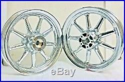 Harley 9 Spoke Chrome Wheels Touring Road Glide Street Glide 00-08