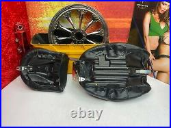 Harley 97-07 Touring Street V-Logo Road King Stitched Solo & Pillion Seat