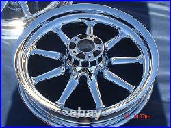 Harley Chrome 9 Spoke Wheels Touring Road Glide Street Glide Outright Sale FLHR