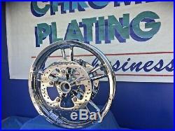 Harley Chrome Street Glide FLHX Enforcer WHEELS 2014 to18 ROTORS, BEARING ABS OK