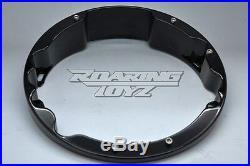 Harley Davidson Black Raked Headlight Bezel For Street Glide Electra Road King