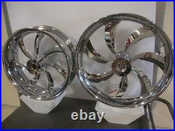 Harley Davidson Chrome Billet Wheel Set Street Glide Road Glide Road King Flht