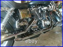 Harley-Davidson Dyna Wide Glide FXD Slice Cut Exhaust System 2.5 Street Bob