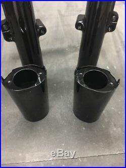 Harley Davidson STREET GLIDE Lower Fork Tube Sliders Legs 2014-2017 Gloss Black