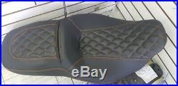Harley Davidson Street Glide / Road Glide Seat Cover Orange Stitching 2008-2019