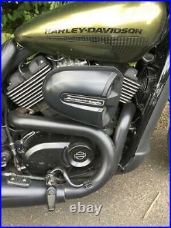 Harley Davidson Street Rod 750. Loads of extras. Sounds proper! Awesome machine