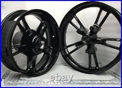 Harley Davison Enforcer Wheels Gloss Black Road King Street Glide #2 (outright)